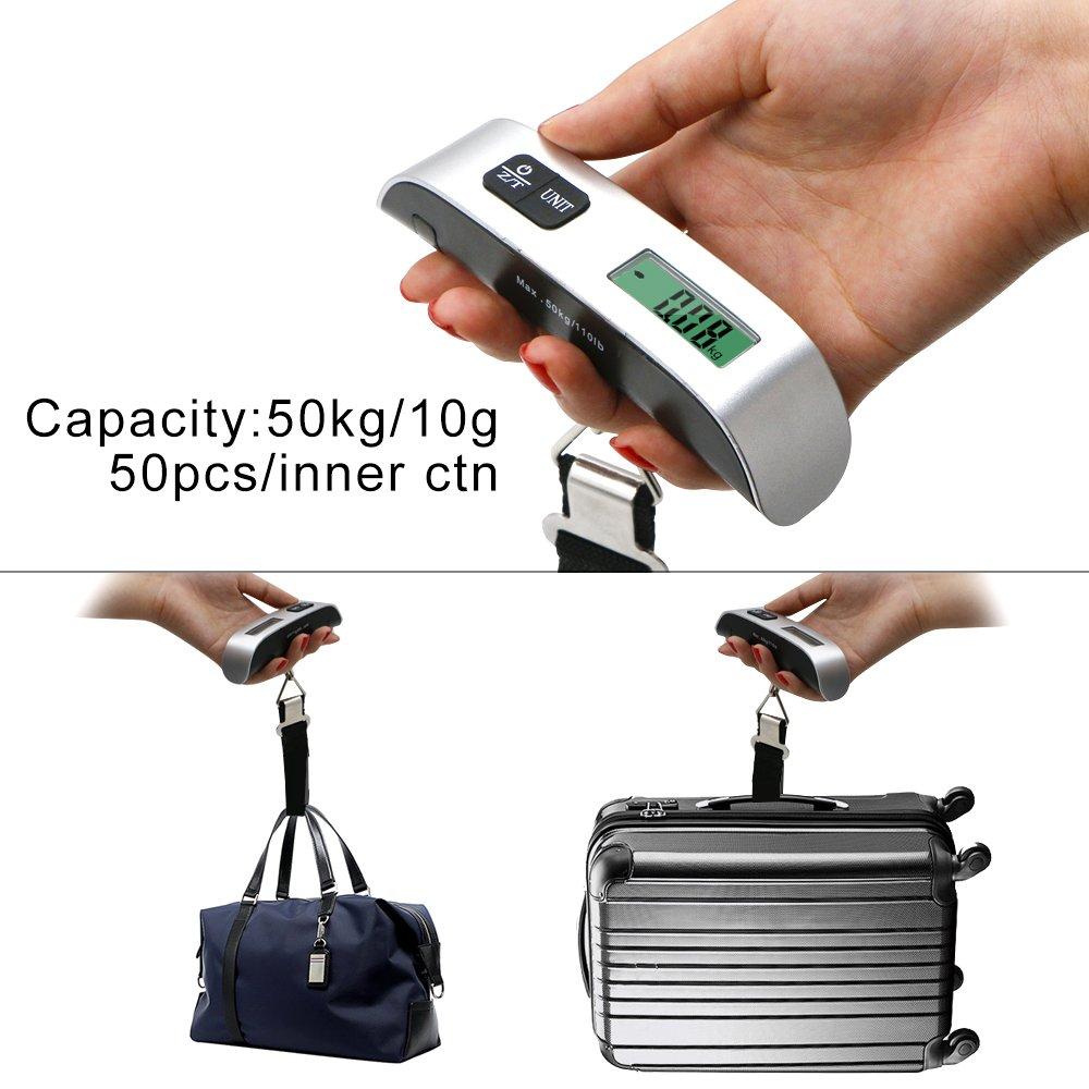 Básculas electrónicas para equipaje,Yica básculas electrónicas manuales de precisión , balanzas portátiles para viajes nacionales,Pantalla LCD, ...