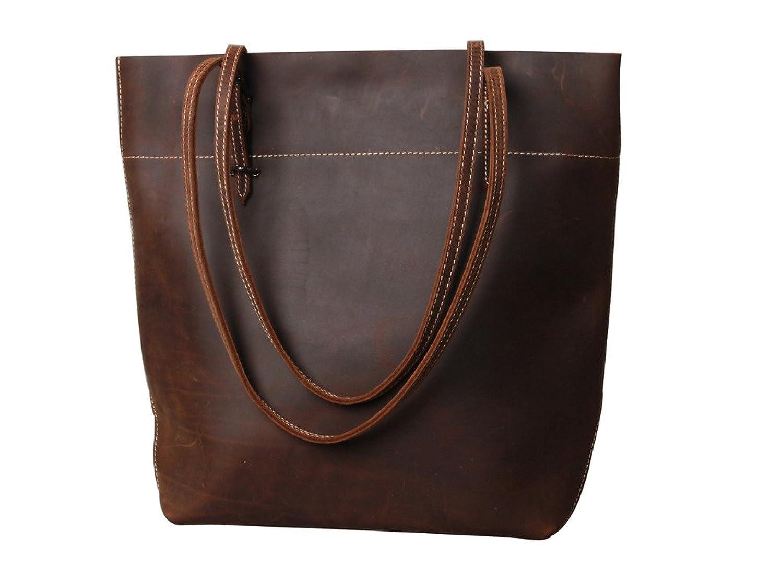 Sulandy Ladies' Genuine Leather Tote Bag Handbag Shoulder Bag