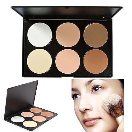 TOFAR 6 Colores Cara Polvos Prensados Professional Polvo Compacto base de maquillaje en polvo compact powder