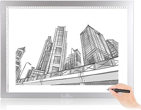 litenergy 32,5 Pulgadas En Diagonal A2 dibujo caja de luz para calcar: Amazon.es: Juguetes y juegos