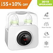 Bable Bottle Warmer, Bottle Steam Sterilizer Multipurpose Baby Bottle Warmer with LCD-Display and Accurate Temperature Control