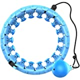 Weighted Smart Hoola Exercise Hoops, Abdomen Fitness Equipment, Adjustable Length for Adults/Kids/Beginner Home/Outdoor…