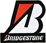BRIDGESTONE Tires Logo Sign Sponsor Motorsport Motogp Biker Racing Patch Iron on Applique Embroidered T shirt Jacket Costume BY SURAPAN
