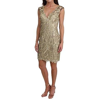 2da9108a75d1 JVN by Jovani Womens Lace Sleeveless Semi-Formal Dress at Amazon ...