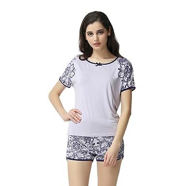 Women Cute Summer Short Pajamas Set Modal Pajamas at Amazon Women s ... 64e9486ec