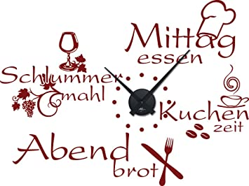 Graz Design 800396_BK_030 Wandtattoo Wanduhr Mit Uhrwerk Küche Esszimmer  Sprüche Günstig, Uhr Schwarz, Aufkleber
