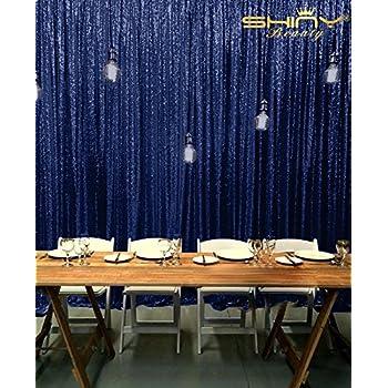 Amazoncom Shinybeauty Sequin Backdrop Navy Blue 8ftx8ftsparkly