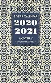 2 Year Calendar 2020-2021 Monthly Pocket Planner: 24-Month Pocket Monthly Planner & Calendar Mini Size: 4.0