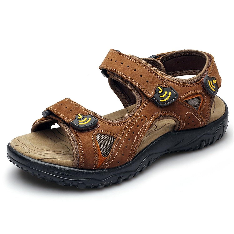 DUODUO Men's 1218/CD01 Suede Leather Summer Beach Sandals