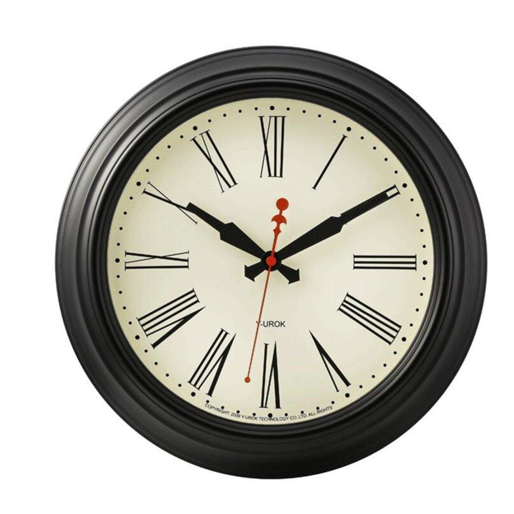 アメリカのローマの壁の時計ミュートのリビングルームの装飾のテーブルクリエイティブファッションクォーツ時計ベッドルームレストランの壁時計18インチ B07DC49SQN