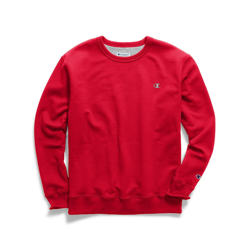 Rouge Cramoisi X-grand Tall Champion – Sweat-shirt – Manches longues – pour homme