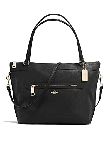 Amazon Com Coach Pebbled Leather Tyler Tote In Black F54687 Shoes