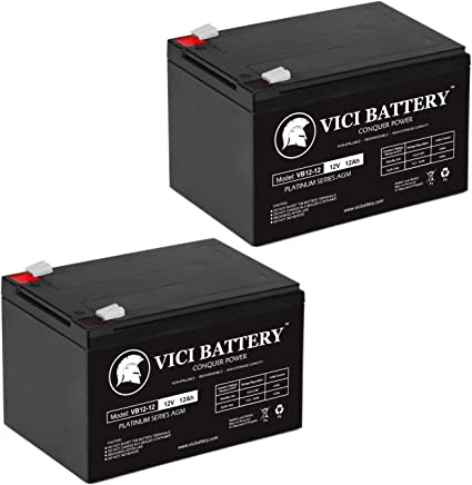 12V 12AH Replacement Battery for Pride Mobility GoGo Scooter VICI Battery Brand Product 3 Pack