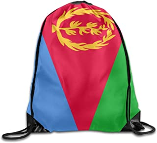 sd4r5y3hg Flag of Eritrea Cool Gym Drawstring Bags Travel Backpack Tote School Rucksack