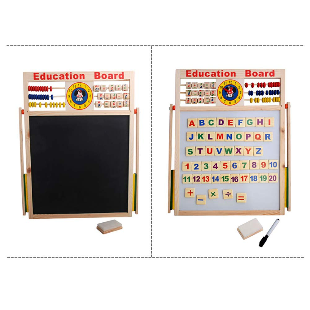 Aland-Abacus Wooden Letters Numbers Blackboard Magnetic Board Kids Educational Toys by Aland (Image #5)