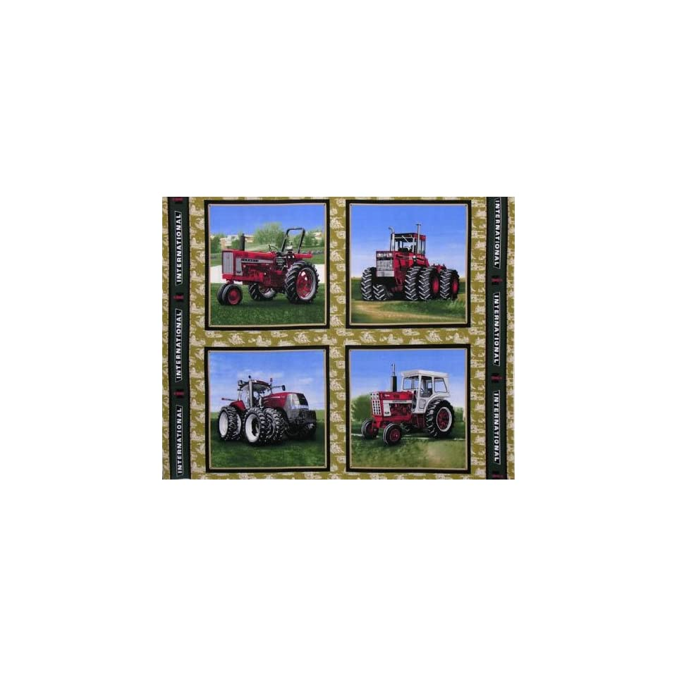International Harvester Tractor Panel Antique Fabric By The Panel