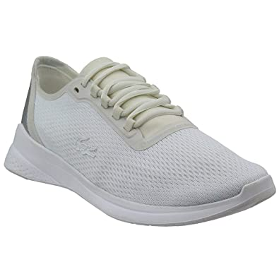 6aeaac75f362 Lacoste Men s LT Fit 318 1 White Silver 8 ...