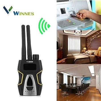 Detector de Señal RF Detector de GPS Detector Cámaras Ocultas Detector Microfonos Ocultos Detector de Microsensor para Cámara Oculta Buscador de ...