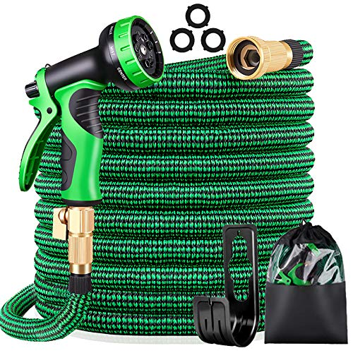 KURTVANA Garden Hose Expandable Water Hose,Extra Strenght/No-Kink Lightweight/Durable/Flexible