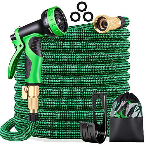 KURTVANA Garden Hose Expandable Water Hose,Extra Strenght/No-Kink Lightweight/Durable/Flexible