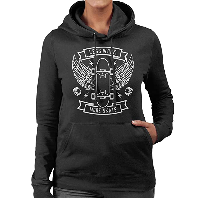 Coto7 Less Work More Skate Womens Hooded Sweatshirt: Amazon.es: Ropa y accesorios