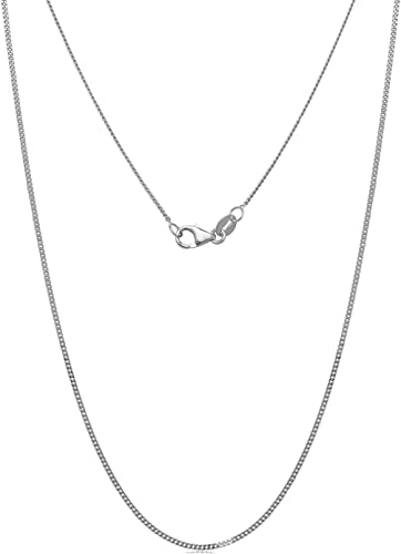 """14k Solid White Gold Diamond Cut Twist Rope Necklace Pendant Chain 1.0mm 16-24/"""""""