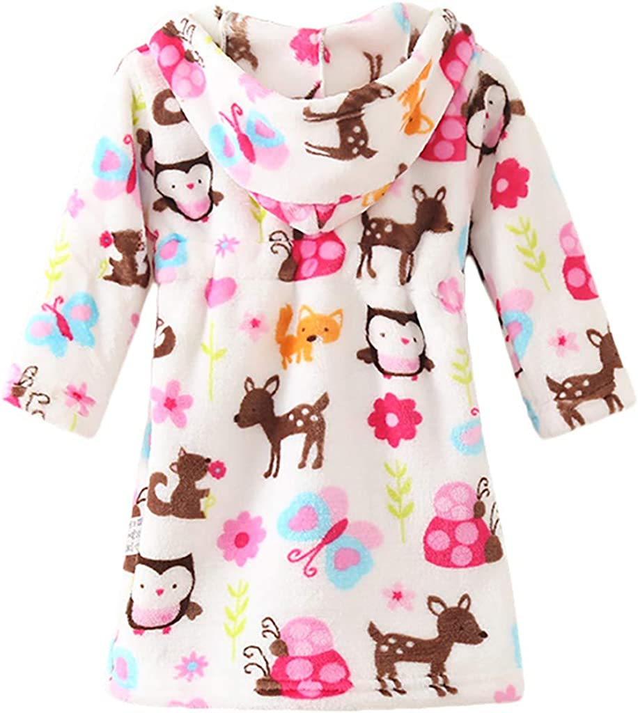 KUKICAT Peignoir Unisexe Service /à Domicile Couleur Unie Peignoir de Bain V/êtements pour Enfants Sleepwear