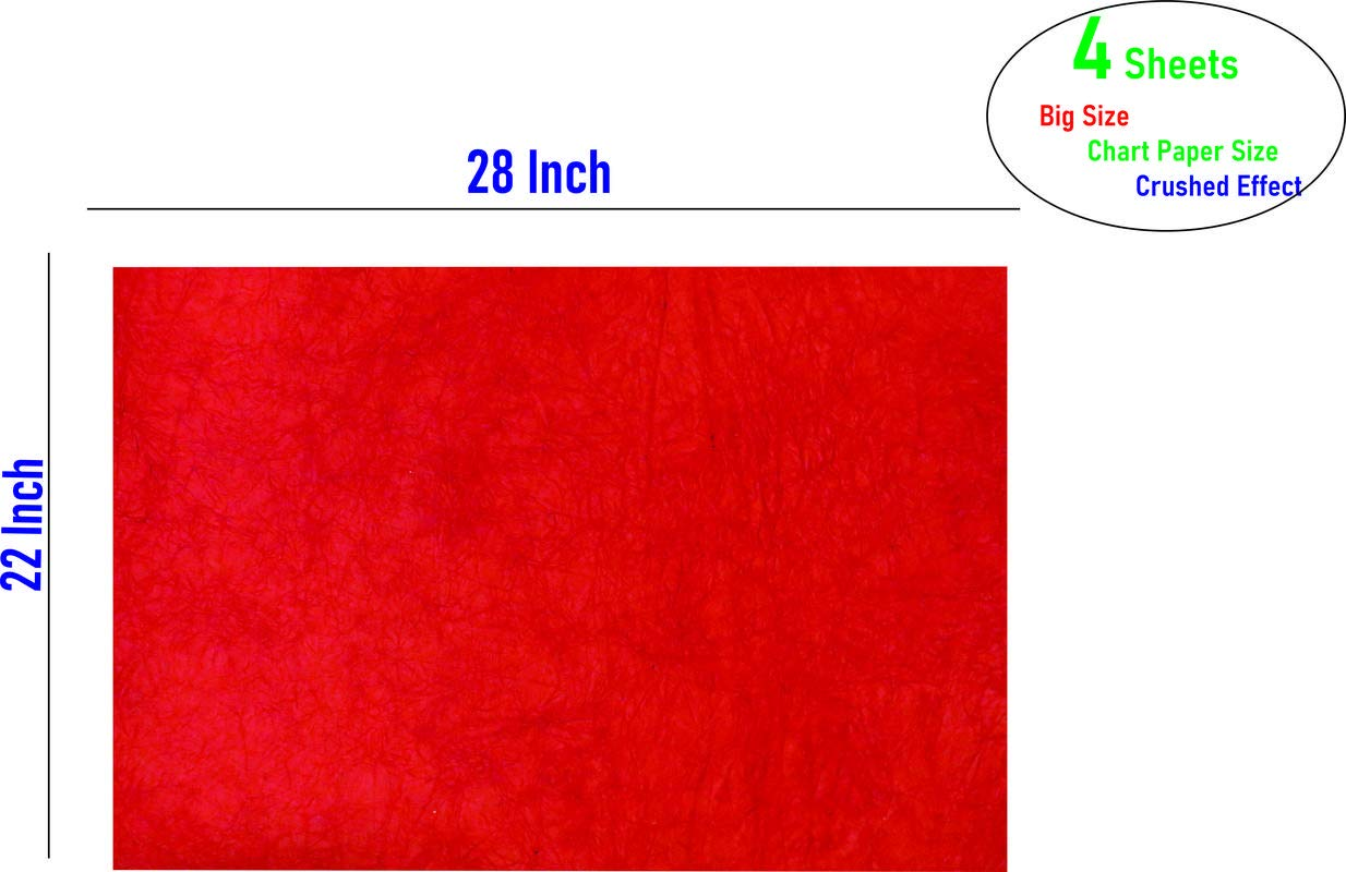 Imprint Big Size Decorative Sheets Crushed Leather Finish Pack Of 4 Red Color Amazon In Office Products