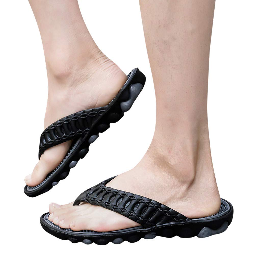 kaifongfu Mens Flip Flops Shoes Slippers Beach Shower Lightweight Comfort Sandals