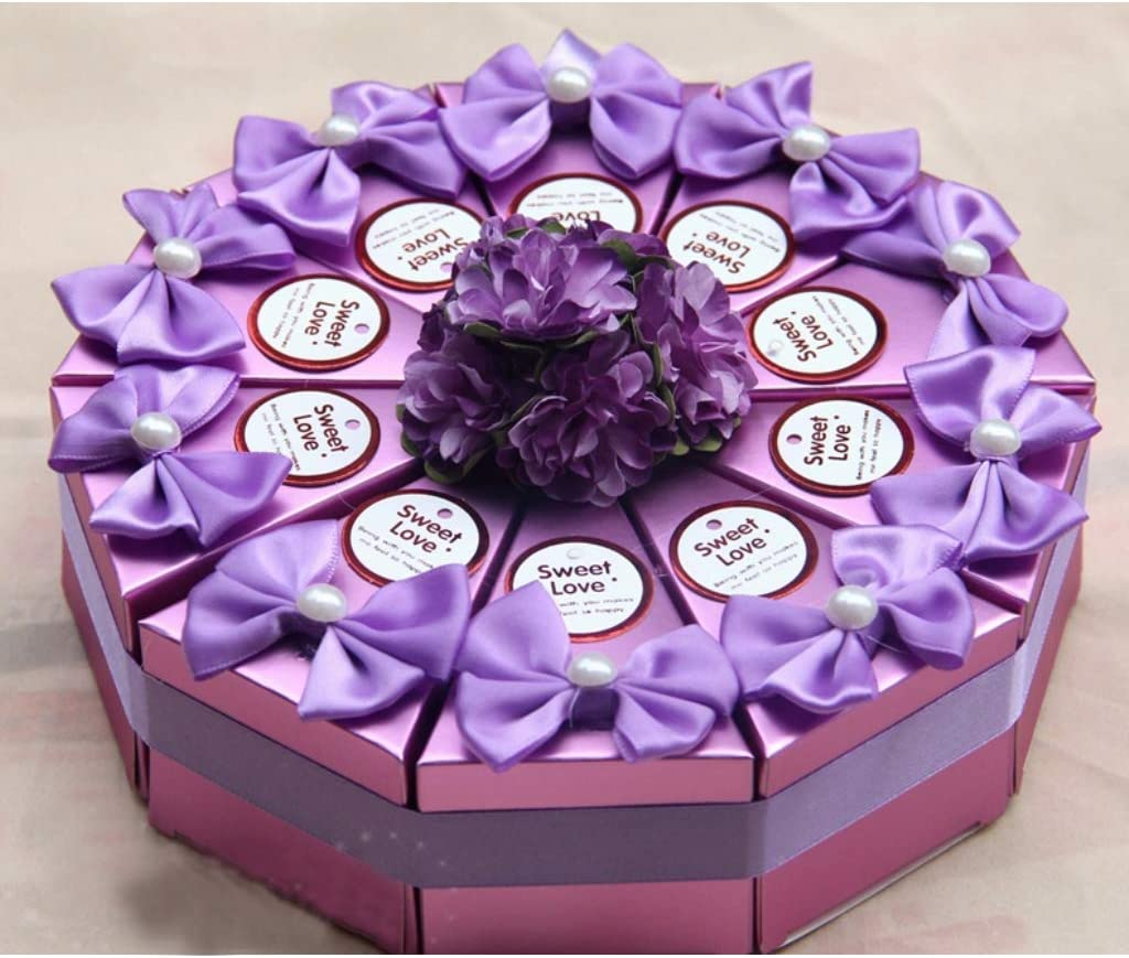 DreamJing 20 Pack Mini Wedding Candy Box Wedding Favor Boxes Party Candy Gift Box for Bridal Wedding Birthday Baby Shower Favors Party Decoration
