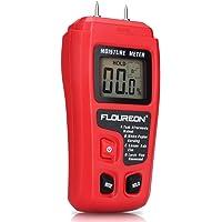 Feuchtigkeitsmessgeräte Digital Holz Feuchtemessgerät Feuchtigkeitsmesser Feuchtigkeits-Detector mit 2 Pins Sensor für Holz Brennholz Pappe Papier Beton Baumaterialien inkl. Batterie