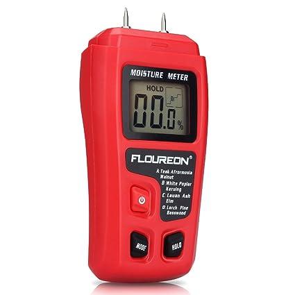 Medidores Humedad Digital Madera Medidor de humedad higrómetro Sensor de humedad detector con 2 pins para