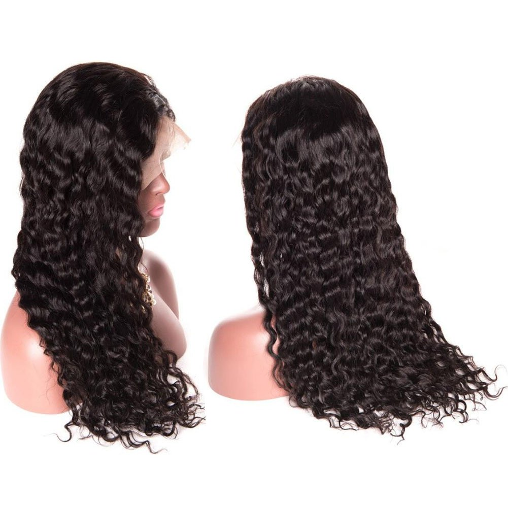 Younsolo Brazilian Water Wave Lace Front Wigs for Black Women 130% Density 100% Unprocessed Virgin Human Hair Wig Natural with Baby Hair (24 inch Lace Front)