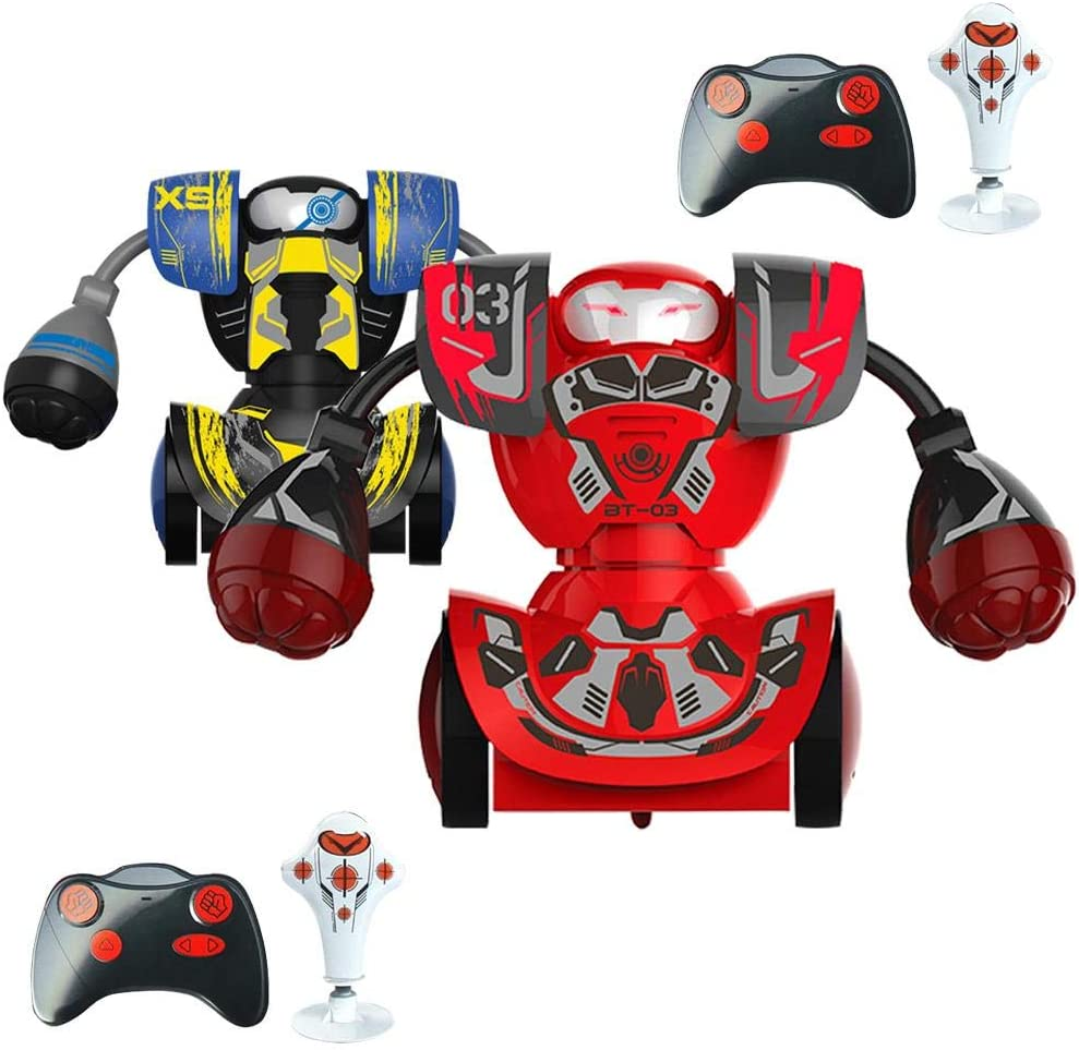 Juego doble de robots de boxeo, control remoto inteligente para niños, boxeo, lucha, juguete para niño, batalla de RC, robot/juguetes de boxeo: Amazon.es: Bricolaje y herramientas