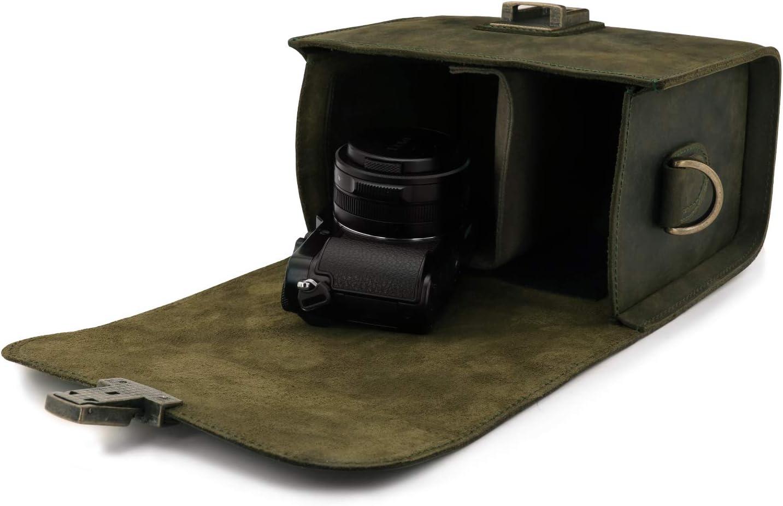 MegaGear Pebble MG1723 - Bolso Bandolera de Piel para cámaras ...