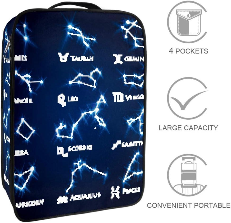 TIZORAX Zodiac DesignTravel - Bolsa de almacenamiento para zapatos, multifuncional, portátil