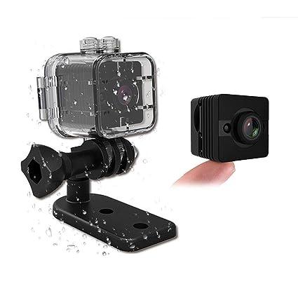 PAWACA Mini cámara impermeable SQ12 alta calidad. 1080P DV cámara de acción para deporte (