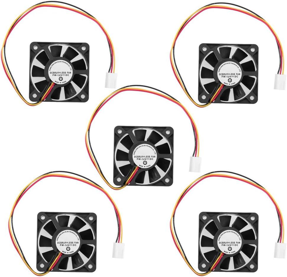 Ventilador de refrigeración para CPU de 3 Pines, 5 cm, refrigerador, Ventilador, disipador, radiador, 50 mm, 10 mm, para Ordenador, 12 V 5 Pcs