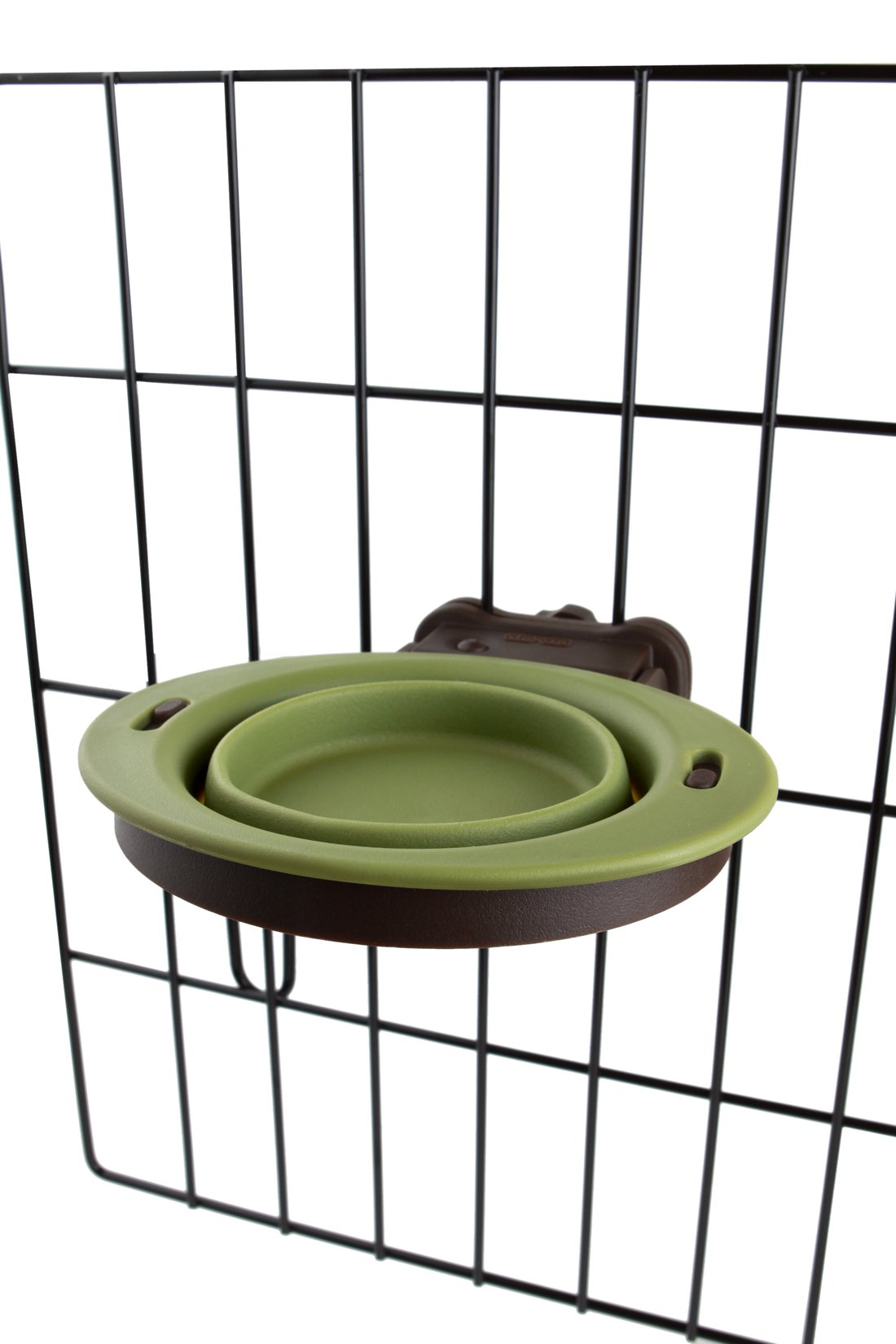 Dexas Popware for Pets Pivot Collapsible Kennel Cup, Small, Green