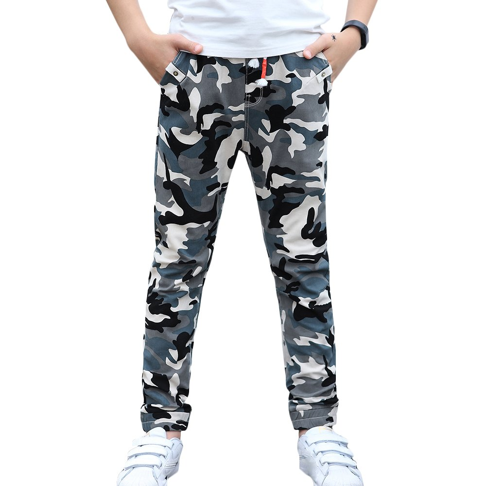 CNMUDONSI Big and Teenager Boys Pants Cotton Long Casual Spring Autumn Clothing M707