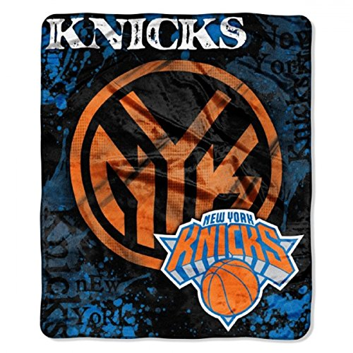 The Northwest Company Officially Licensed NBA New York Knicks Dropdown Plush Raschel Throw Blanket, 50