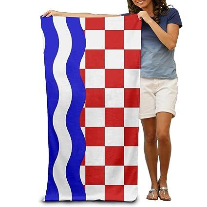 Toallas de playa Yissalvunaz con la bandera de la República de Croacia, 100% poliéster