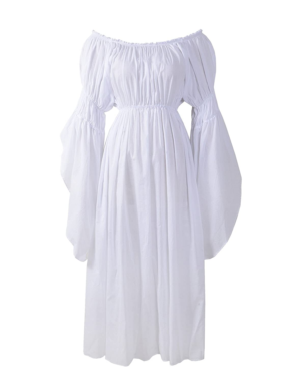 Medieval Renaissance Faire Celtic White Chemise Underdress - DeluxeAdultCostumes.com