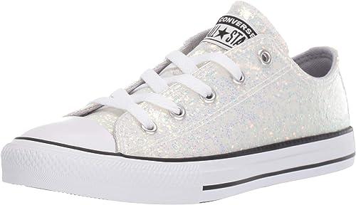 Star Glitter Low Top Sneaker, Wolf Grey