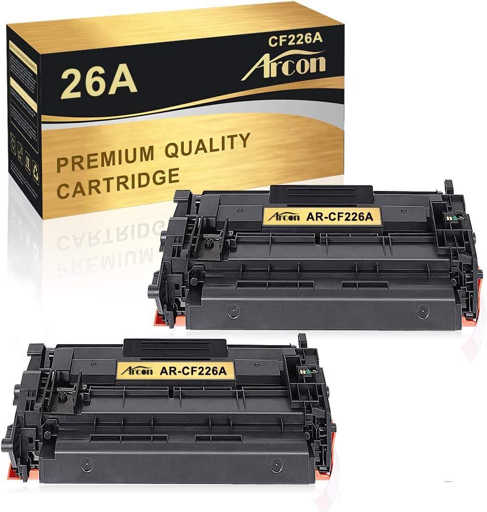 Arcon - Cartucho de tóner compatible para HP 26A 26X CF226A CF226X para HP Laserjet Pro M402DN M402N M402DW M402D HP Laserjet Pro MFP M426FDW M426DW HP M426FDN HP M426FDW HP M426FDW (2 unidades)