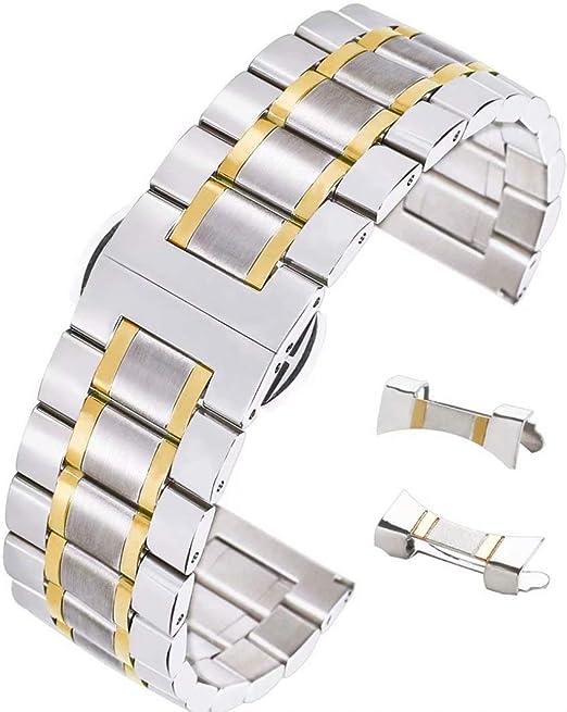 2 endglieder Acier 20 mm Compatible pour RLX jubilé bracelet acier