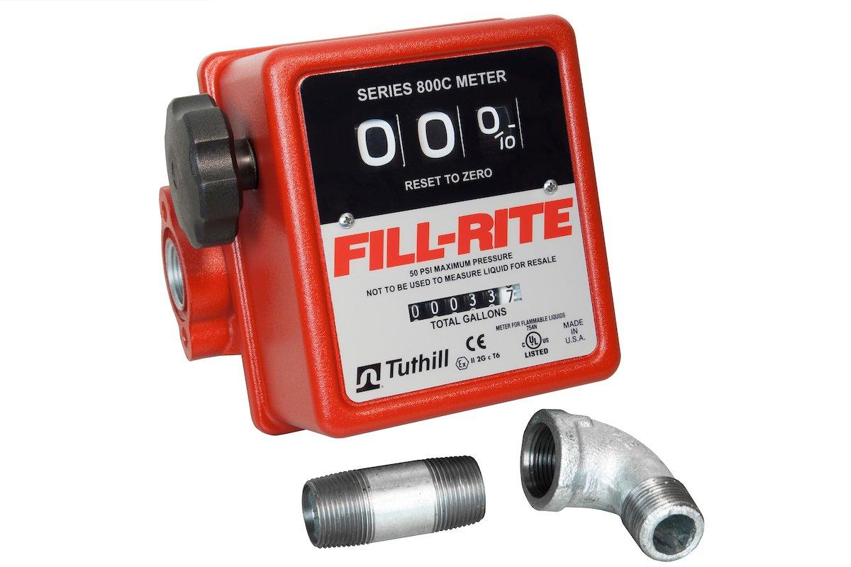 Fill-Rite 807CMK 3/4'' Black Meter Kit for Pumps, NPT