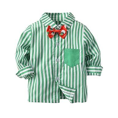 Gentleman - Juego de Camisas de Manga Larga para niño con Corbata ...