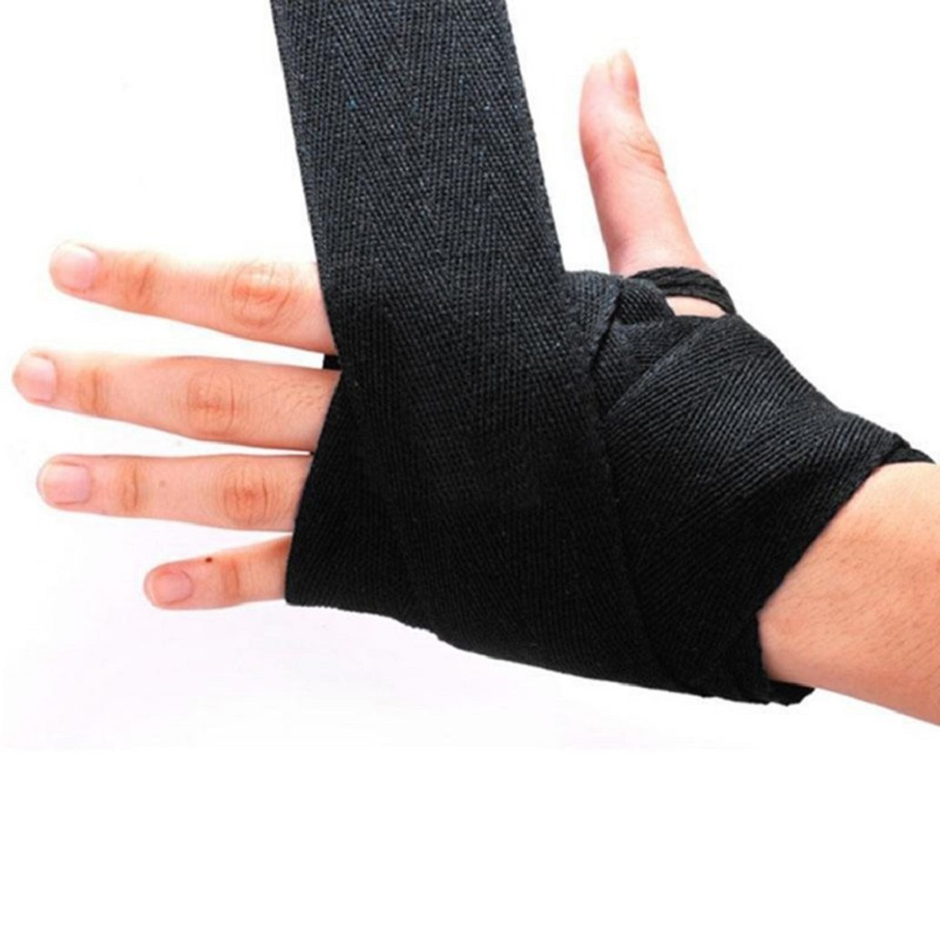 Hook Thumb Loop Cotton Wrist Protector Fist Bandage Glove Boxing Hand Wraps