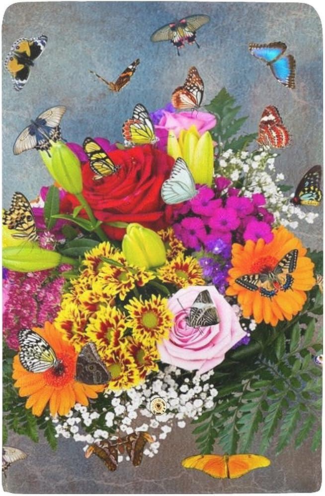 Flowers Bouquet Art Abstract Nature Wedding Custom Womens Wallet Womens Trifold Wallet Long Purse Card Cases